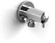 Riobel 780-C Universal Chrome Wall Supply Elbow With Shut Off Valve