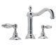 Rohl  A1409LCAPC-2   Country Bath Acqui Widespread Lavatory With Crystal Levers Pop-Up And Column Spout, Chrome