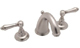 Rohl  A2707LMSTN-2   Country Bath Verona Three Hole Widespread Lavatory Faucet In Satin Nickel