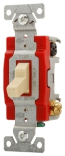 Toggle Switch, 2 Pole, 20 Amp, 120/277 Volt, Ivory