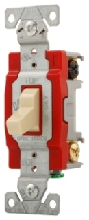 Toggle Switch, 3 Way, 20 Amp, 120/277 Volt, Ivory