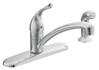 67430 Moen Chrome Chateau Single Lever Handle Kitchen Faucet with Side Spray