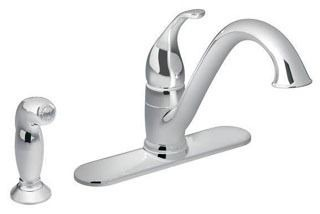 7840SRS Moen Stainless Camerist Single Handle Kitchen Faucet with Side Spray