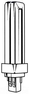 WEST 0371590 F13DTT/35 13W 4PIN DBL BIAX LAMP PLUG-IN CFL GX24G-1 BASE