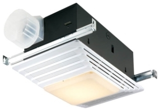 BROAN 655 Heater/Fan/Light White Plastic Grille 70 CFM