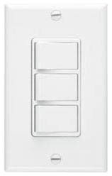 BROAN 66W THREE INDEPENDENT 120V 15A ROCKER SWITCHES 20amp TOTAL WHITE H-F-L