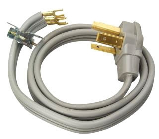 Coleman Cable 091248809 10/3 30 Amp Gray 4 Foot 6-Pack Dryer