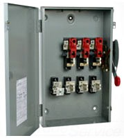 C-H DG222NGB 60A 2P 240V GENERAL DUTY NEMA1 FUSIBLE SAFETY SWITCH WITH NEUTRAL USE CLASS H OR K FUSES
