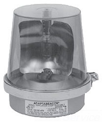 Edwards Signaling 52A-N5-40WH 120 VAC 0.35 Amp 75 RPM Amber Cast Base Rotating Halogen Beacon