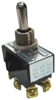 GB GSW-16 DPDT ON/OFF/ON TOGGL SW (IDEAL 774016) MCGL 0121-0002