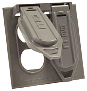 Raco 5148-0 Weatherproof Two Gang Cover, Device Mount, Two Duplex Receptacle