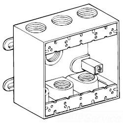 Raco 5340-0 2G WP BOX W/7 1/2HUBS