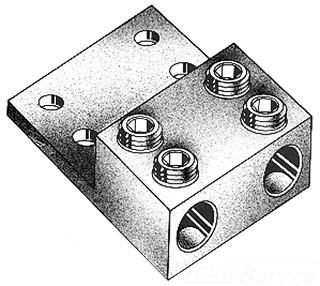 IDEAL 88-044 Lug, 2 Conductor 500MCM-2AWG Al/Cu