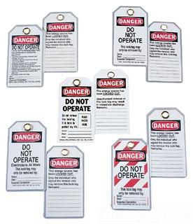 IDEAL 44-833 SAFETY LOCKOUT/TAGOUT 5/CRD (SELL AS 1 PACKAGE)