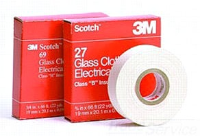 3M 27-3/4x66' GLASS CLOTH TAPE CLS B TEMP 130DEG C 80012020360
