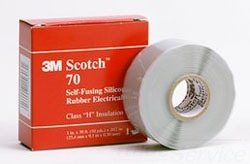 "3M 70 1""x30' SELF-FUSING SILICONE RUBBER TAPE FOR HIGH VOLTAGE"