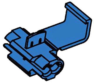 3M 560B-BULK Double Run or Tap, Flame Retardant, Blue, 18-16 AWG (solid/stranded), 14 AWG (stranded), 500 per carton