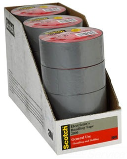 3M 2000-Duct-Tape-Display 2 Inch x 50 Yard Electricans Building Tape