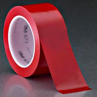 "3M 471-Red-2""x36yd-Bulk Plastic Film Tape"