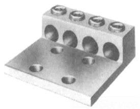 "ILSCO AU-0 2H-1/0-14 Alum Mech Lug Dual Rated Cu/Al, 1/4"" bolt size"
