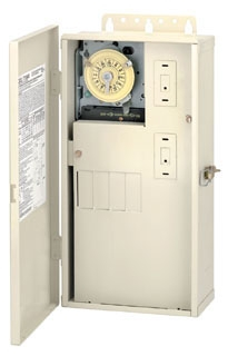 """INT T21004R 60a Load Center with T104M Mechanism TIME CLOCK IN A 16""""X8""""X4"""" 3R ENCLOSURE"""