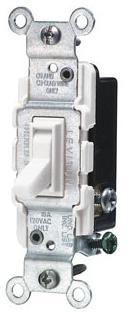 LEV 1453-2W 3W Switch 15A 120V White