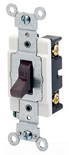 LEV CSB1-20W 20A 120/277V SP SWITCH WHITE-BACK & SIDE WIRED