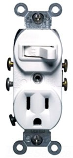 LEV 5225-WSP COMBO 1P SWITCH AND 5-15R RECEPTACLE WHITE