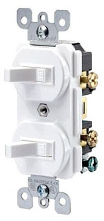 LEV 5224-2W SP-SP Stack Switch-Wht 15amp Grounded