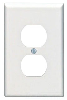 LEV 80503-W 1G MIDSIZE DPLX PLATE WHITE THERMOSET