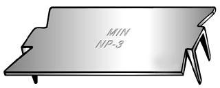 MINRLAC NP3 NAIL PLATE 1-1/2 x 3 TOPAZ 189B ORBIT SP-1 PEC189