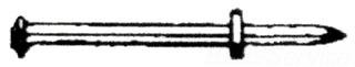 "PECO 2704J 1/4X1-1/4 ZAMAC HAMMER ""SCREW"" ANCHOR JAR 100 96446"