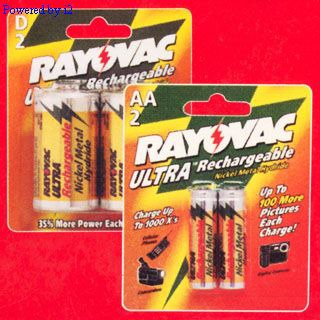 RAYOVAC NM713-2 D NiMh RECHARGEABLE BATTERY 2pk