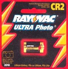 RAYOVAC RL123A-1 CR123A 3V Lithium Photo Battery 1/card