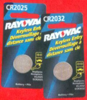 RAYOVAC KECR2032-1G Lithium Keyless Entry Battery 2032 Size 3.0volt carded 1-pak (coil cell battery)