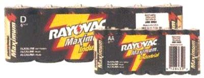 RAYOVAC ALD-6J Alkaline D Battery 6-Pak UltraPro (shrink wrapped)
