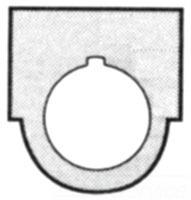 FUR 52NL02 BLANK LEGND PLATE