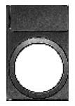 ITE 3SB3922-0AV LEGEND PLATE HOLDER HOLDER, 12.5 X 27 MM