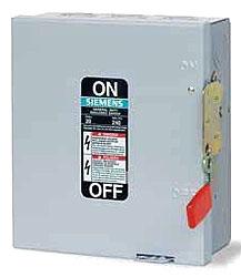 ITE GF321NR 30A 3P 240V GenDuty N3R RAIN-TITE FUSIBLE SAFETY SWITCH w/NEUTRAL - USE CLASS H OR K FUSES TYPE ECHA HUB