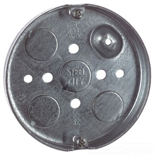 "STL-CTY 56111 4"" ROUND PANCAKE BOX 1/2 DEEP 6CU INCHES 1/2 KO"