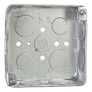 "STL-CTY 52151-3/4 4"" SQUARE BOX 1-1/2D, 3/4""KO Box ORB4SB-75 (APP 4S-3/4)"