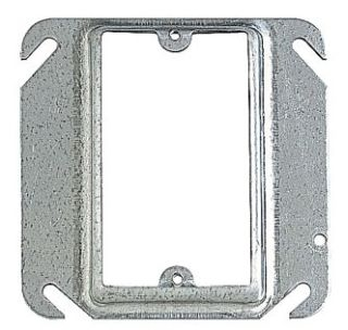 "STL-CTY 52-C-13 1G 4""SQ 1/2"" RISE PLASTER RING (APP 8468A)"