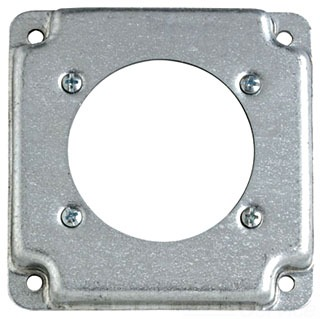 "STL-CTY RS-14 4""SQ RAISED COVER - POWER RECEPTACLE 2.48"" DIA"