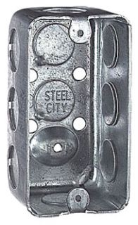 Steel City 58361-1/2 4 x 1-7/8 Inch Dimensions 13 In Steel Utility Box with 1/2 Inch Knockout
