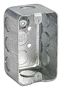 Steel City 68371-1/2 4-1/8 x 2-1/2 Inch Dimension 18.8 In Steel Utility Box with 1/2 Inch Knockout