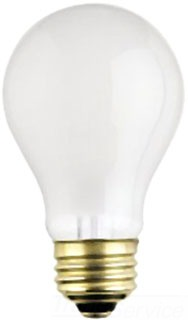WEST 03954 100A/F/RS 100W FROSTED ROUGH SERVICE LAMP