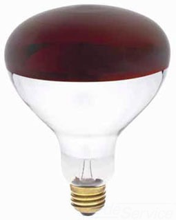 WEST 0391700 250R40/HT/R 250W 120V RED INFRARED HEAT LAMP