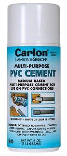 CARLON VC9AC5 SPRAY ON PVC CEMENT 4OZ