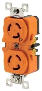 BRY 4700DRIG 15A 125V LOCKING DUPLEX RECP L5-15R ISOLATED GROUND ORANGE