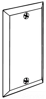 Raco 860 BLANK HANDYBOX COVER
